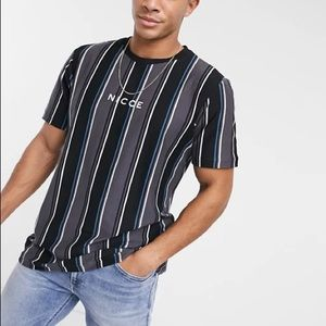 ASOS - NICCE - all over stripe t-shirt
